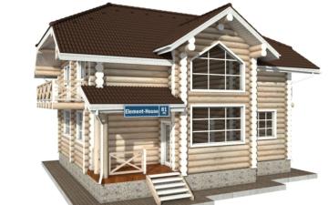 Фото #1: Красивый деревянный дом РС-81 из бревна