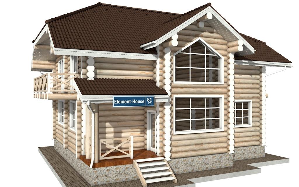 РС-81 - деревянный дома из бревна (из сруба)