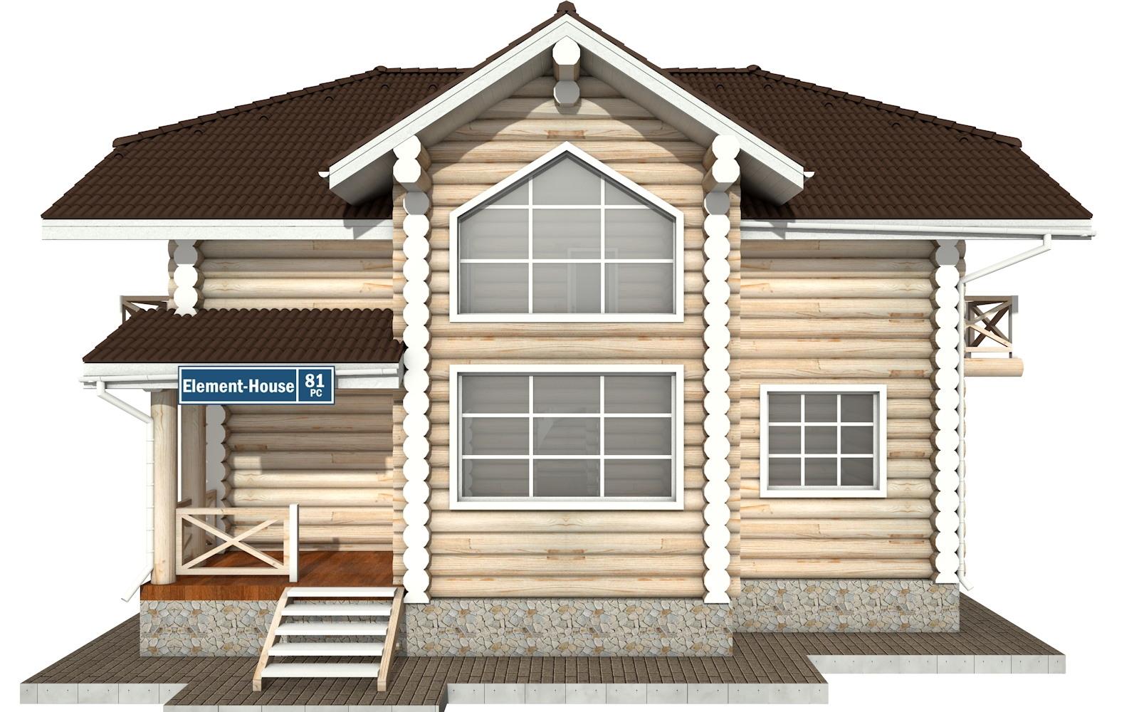 Фото #6: Красивый деревянный дом РС-81 из бревна