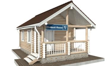 Фото #1: Красивый деревянный дом РС-82 из бревна