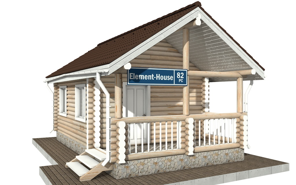 РС-82 - деревянный дома из бревна (из сруба)