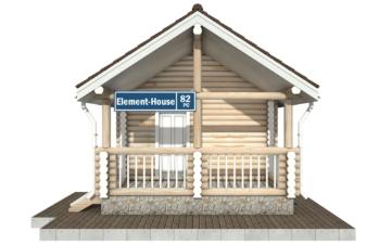 Фото #7: Красивый деревянный дом РС-82 из бревна