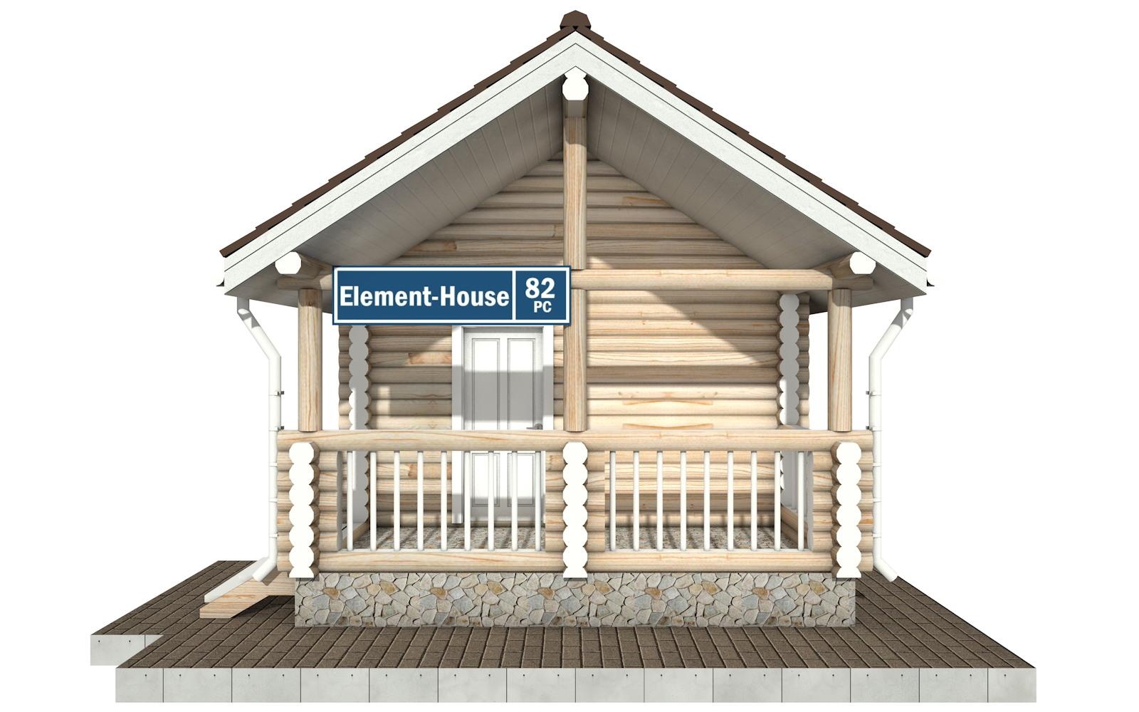 Фото #5: Красивый деревянный дом РС-82 из бревна