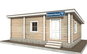Фото #1: Красивый деревянный дом РС-83 из бревна