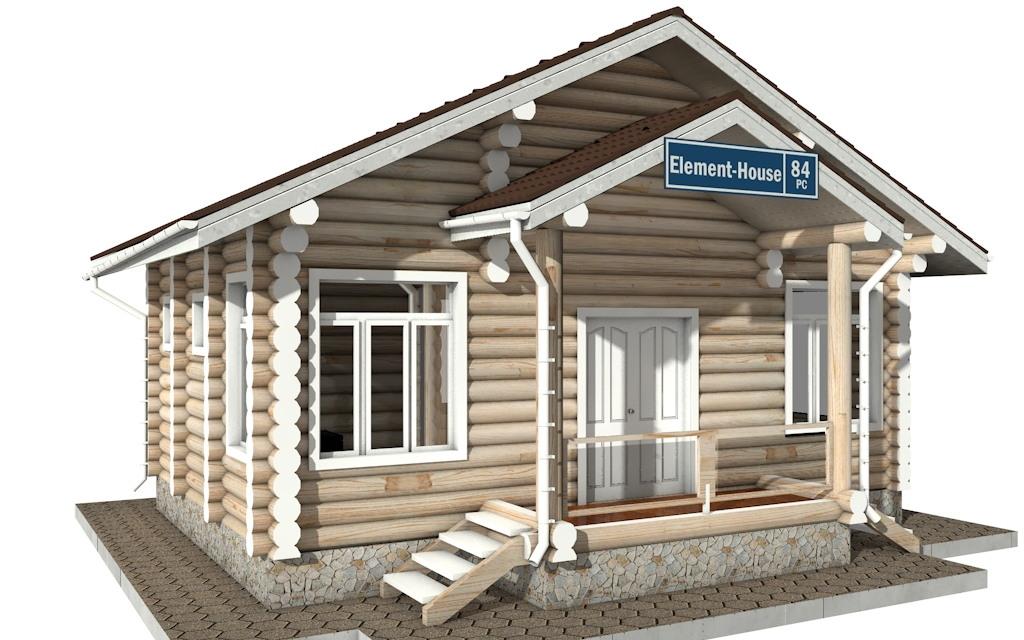 РС-84 - деревянный дома из бревна (из сруба)
