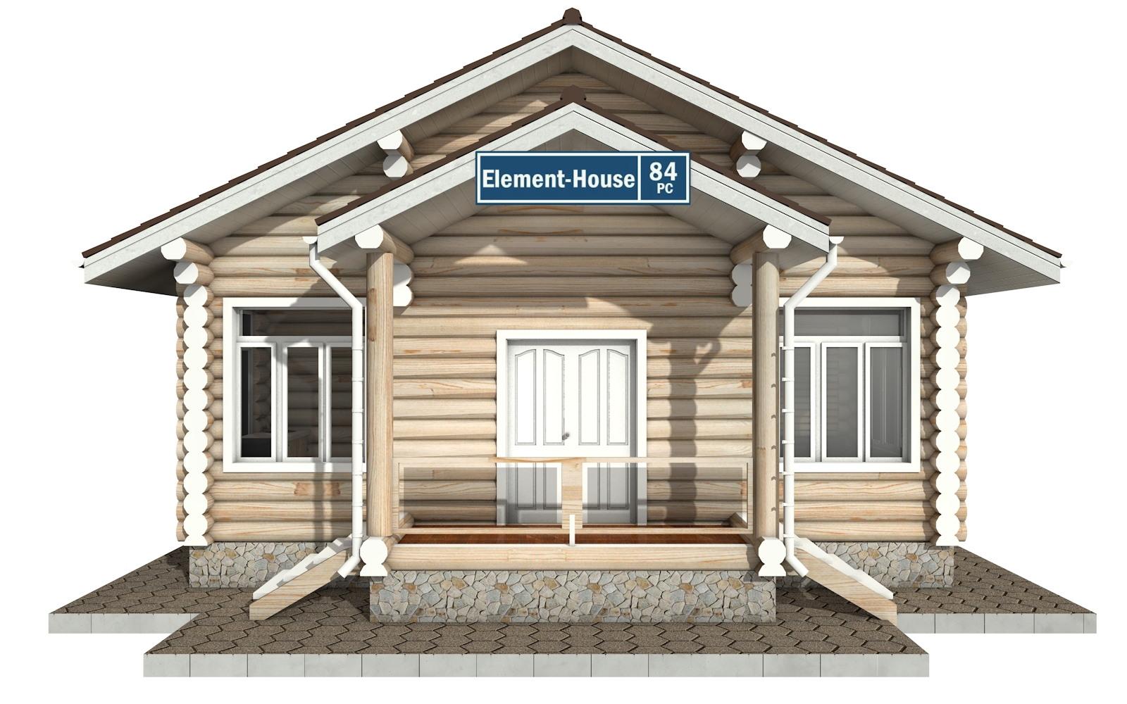 Фото #5: Красивый деревянный дом РС-84 из бревна