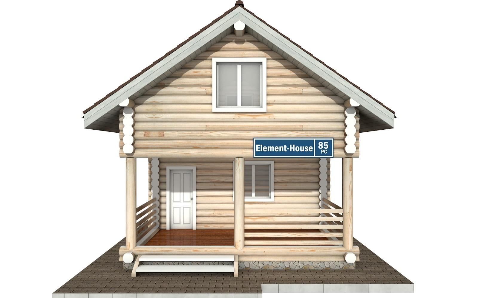 Фото #6: Красивый деревянный дом РС-85 из бревна