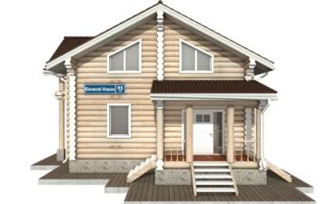 Фото #7: Красивый деревянный дом РС-86 из бревна