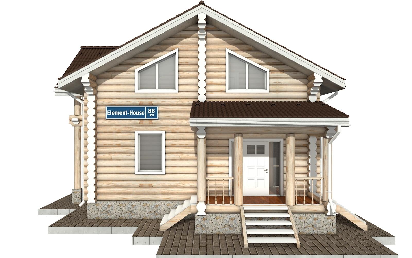 Фото #6: Красивый деревянный дом РС-86 из бревна