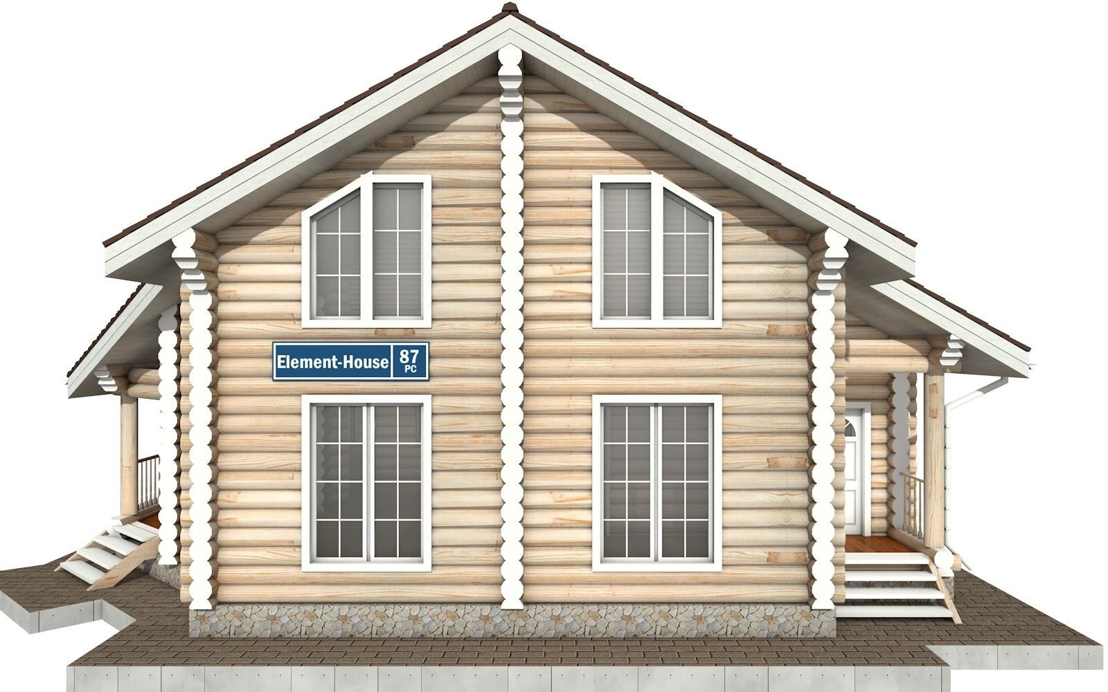 Фото #6: Красивый деревянный дом РС-87 из бревна