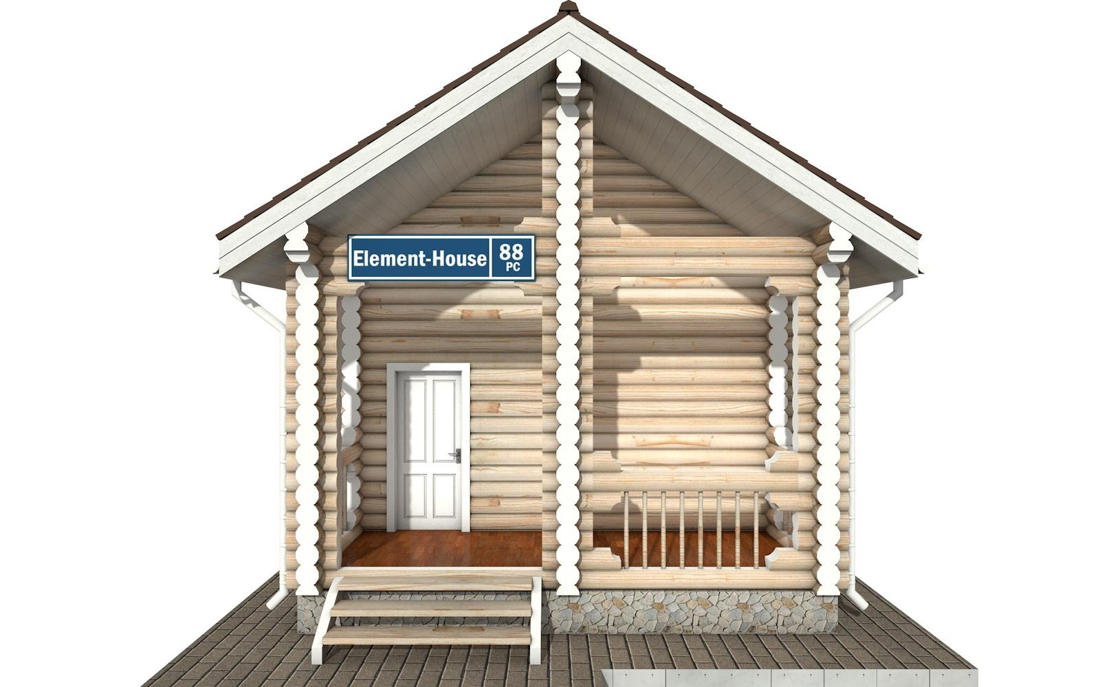 Фото #6: Красивый деревянный дом РС-88 из бревна