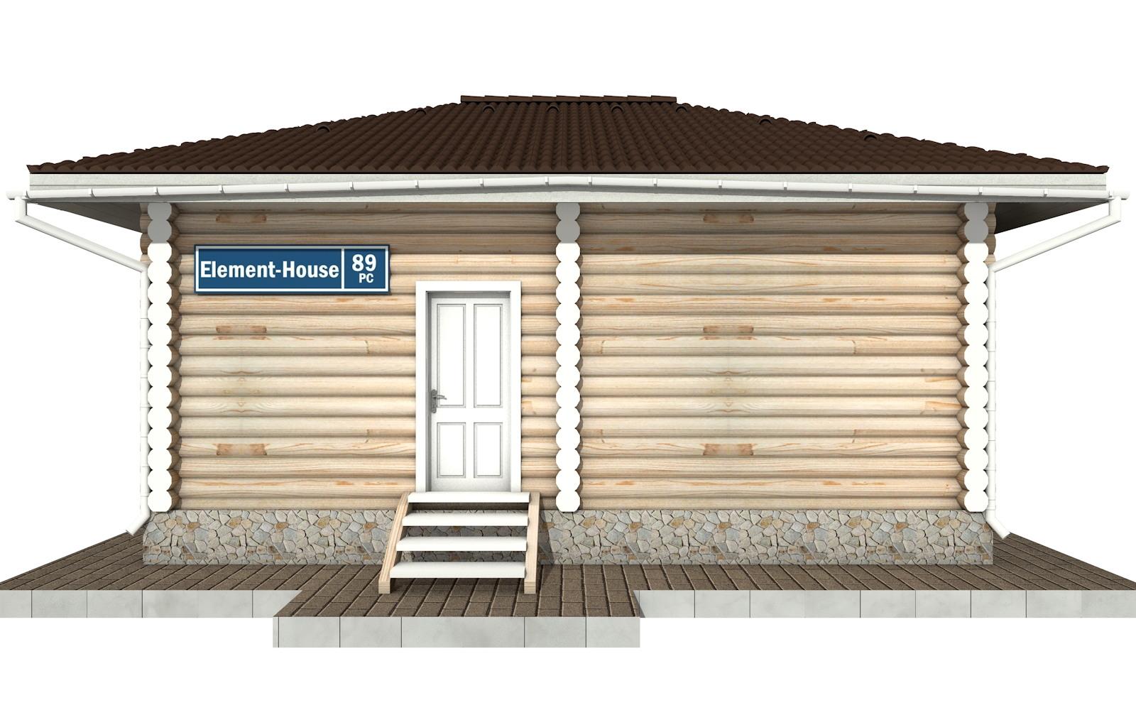 Фото #5: Красивый деревянный дом РС-89 из бревна