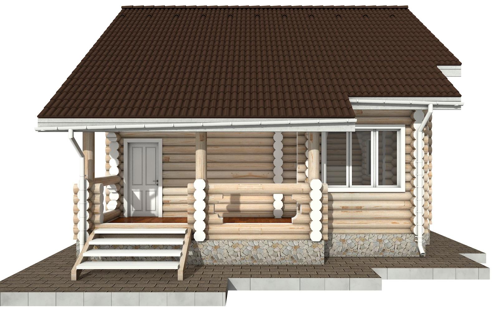Фото #6: Красивый деревянный дом РС-90 из бревна
