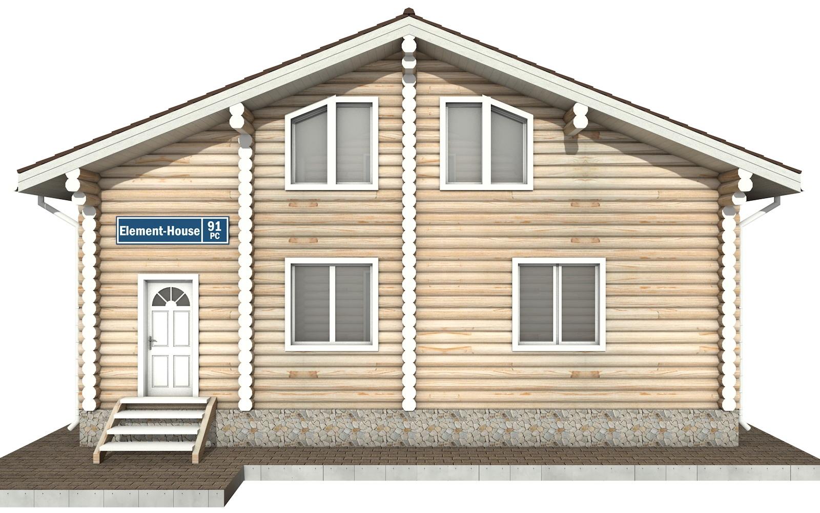 Фото #6: Красивый деревянный дом РС-91 из бревна