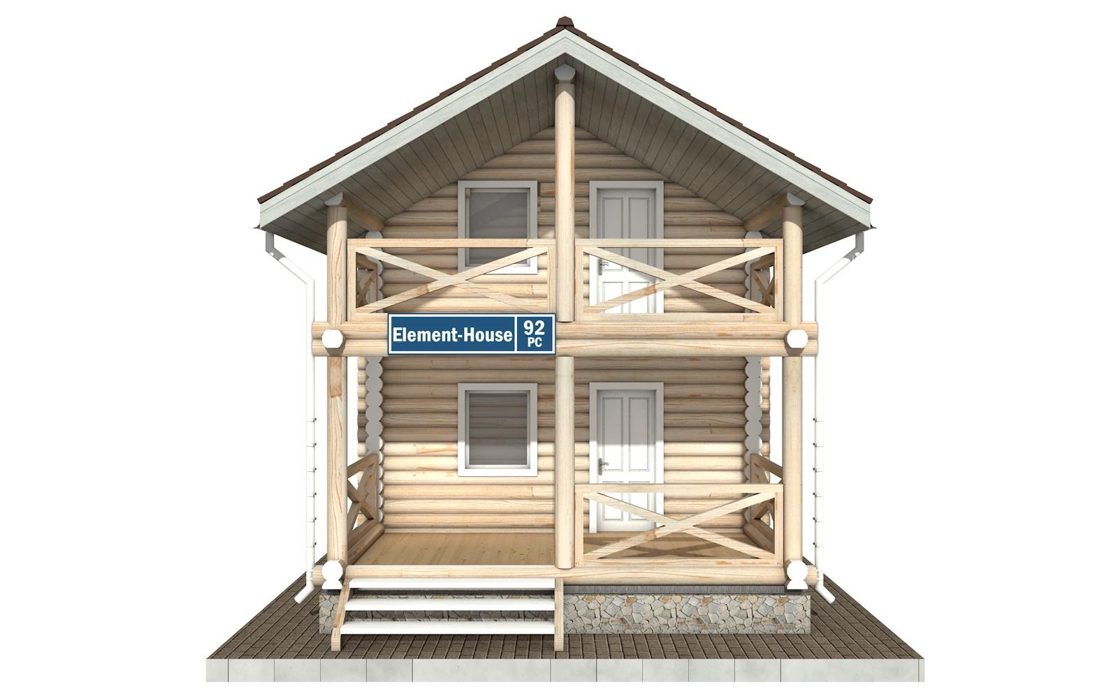Фото #6: Красивый деревянный дом РС-92 из бревна