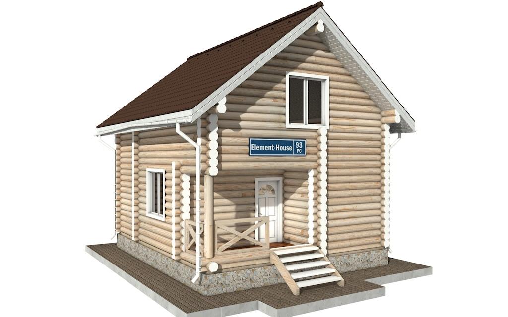 РС-93 - деревянный дома из бревна (из сруба)