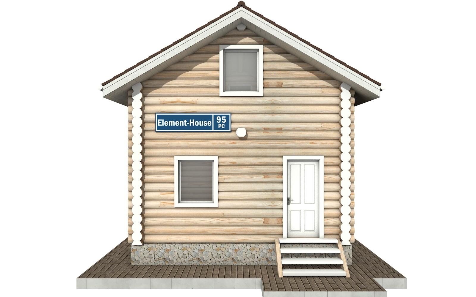 Фото #6: Красивый деревянный дом РС-95 из бревна