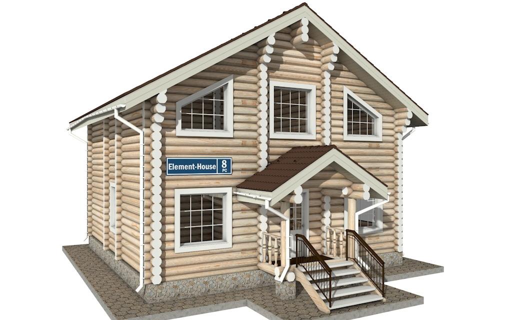 РС-8 - деревянный дома из бревна (из сруба)