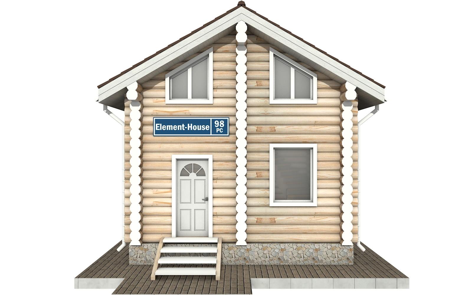 Фото #6: Красивый деревянный дом РС-98 из бревна