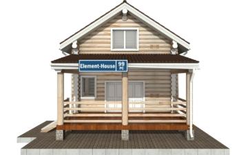 Фото #7: Красивый деревянный дом РС-99 из бревна