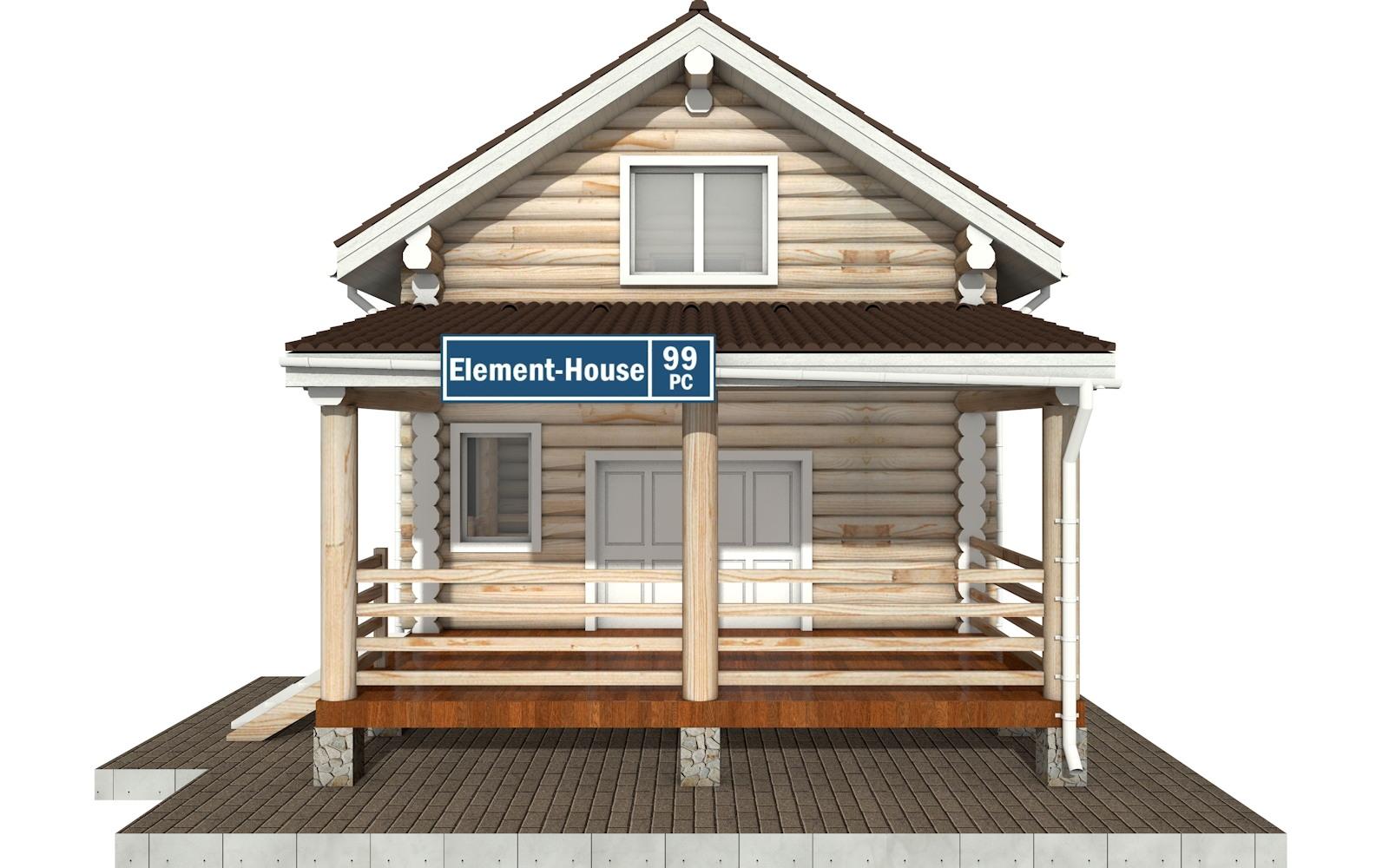 Фото #6: Красивый деревянный дом РС-99 из бревна