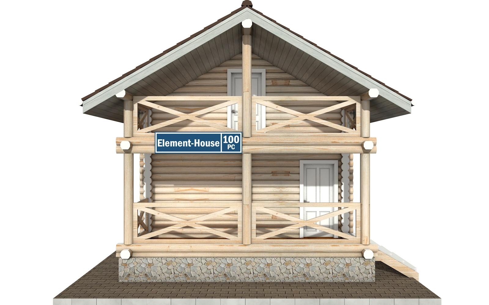 Фото #6: Красивый деревянный дом РС-100 из бревна
