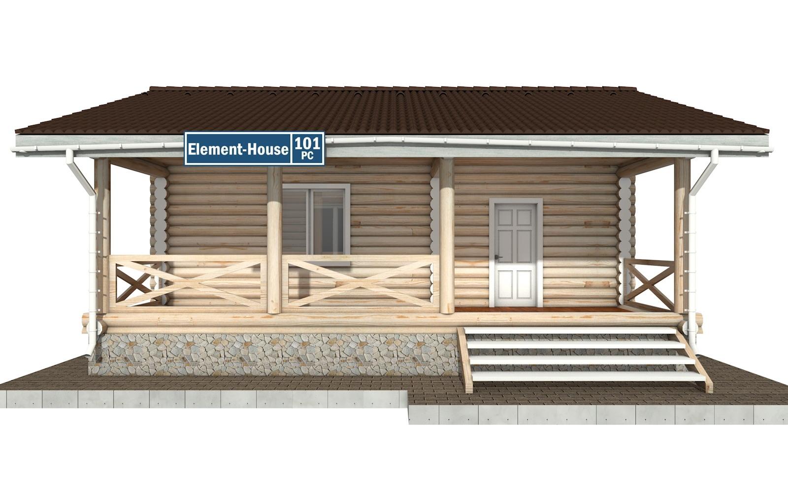 Фото #5: Красивый деревянный дом РС-101 из бревна