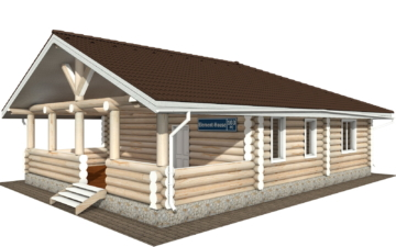 Фото #1: Красивый деревянный дом РС-103 из бревна