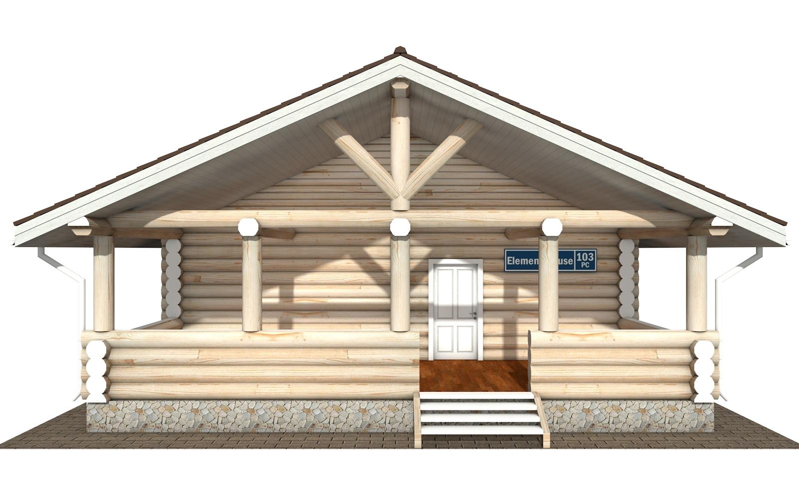 Фото #5: Красивый деревянный дом РС-103 из бревна