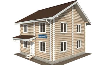 Фото #1: Красивый деревянный дом РС-104 из бревна