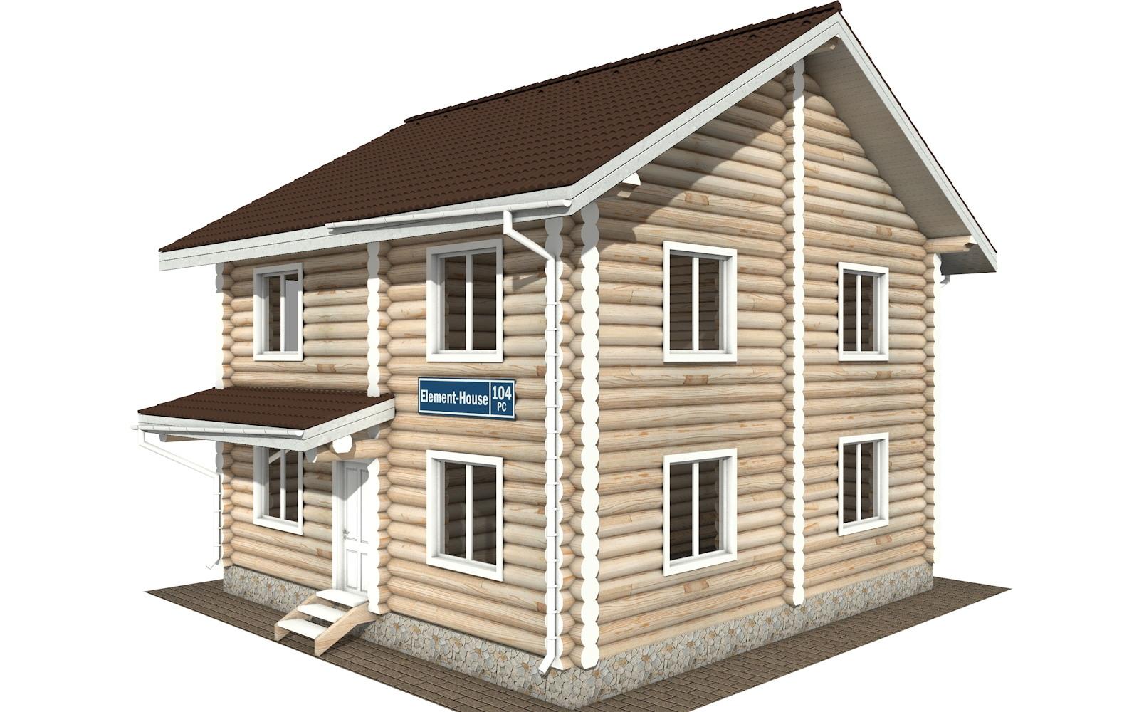 РС-104 - деревянный дома из бревна (из сруба)