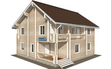 Фото #1: Красивый деревянный дом РС-105 из бревна