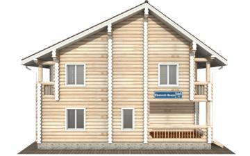 Фото #7: Красивый деревянный дом РС-105 из бревна