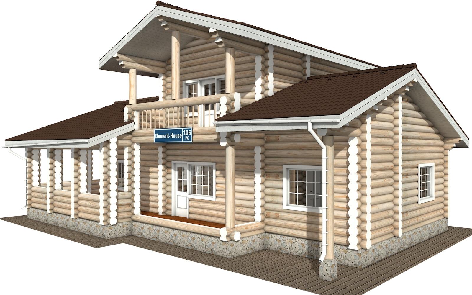 РС-106 - деревянный дома из бревна (из сруба)
