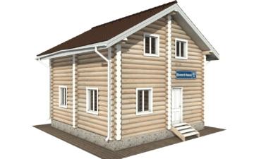 Фото #1: Красивый деревянный дом РС-107 из бревна
