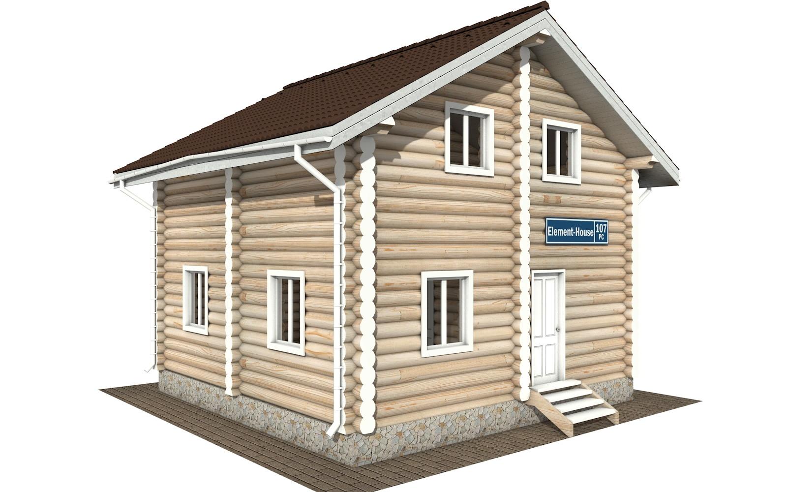 РС-107 - деревянный дома из бревна (из сруба)