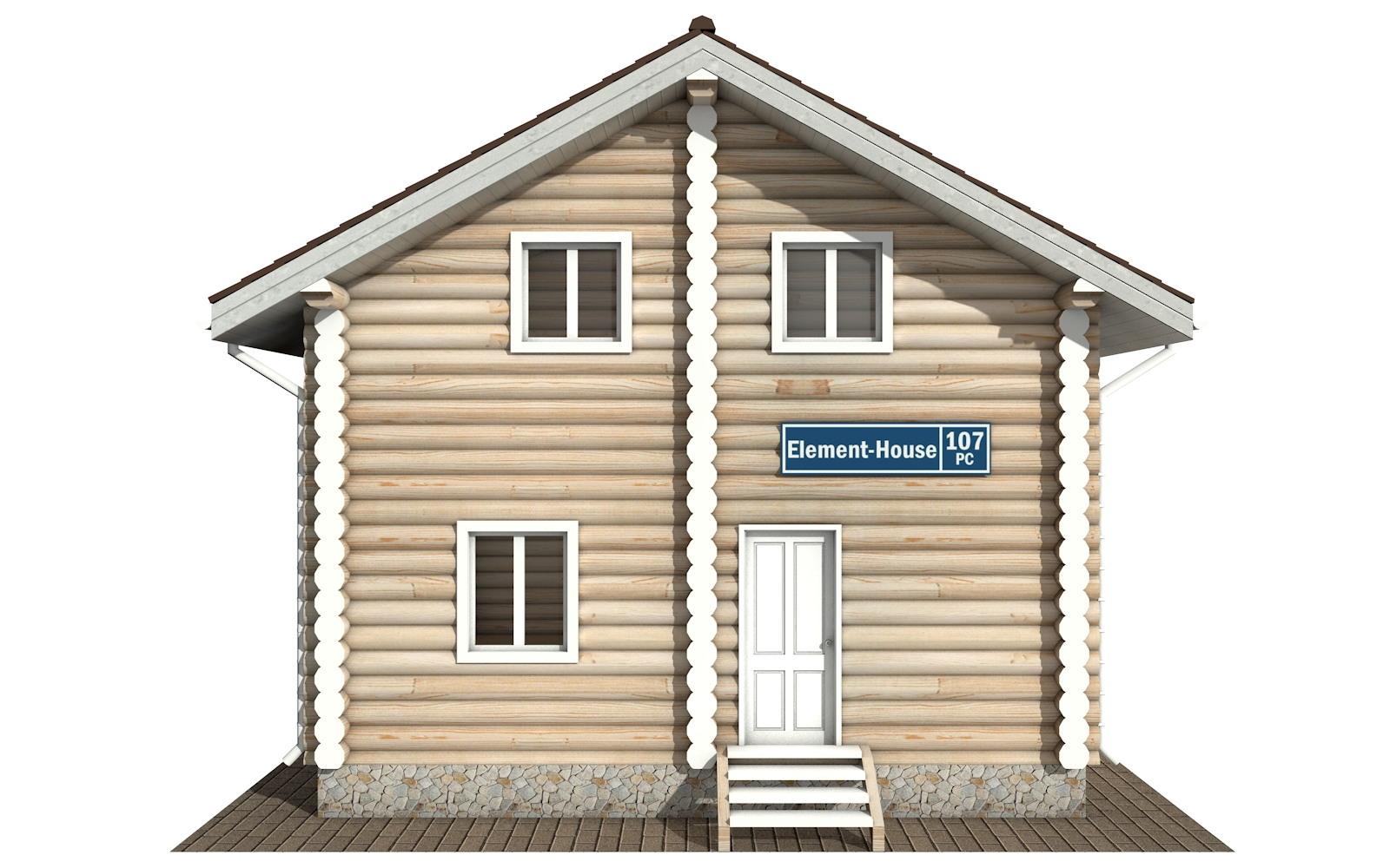 Фото #6: Красивый деревянный дом РС-107 из бревна