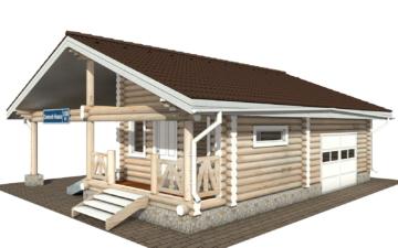 Фото #1: Красивый деревянный дом РС-108 из бревна