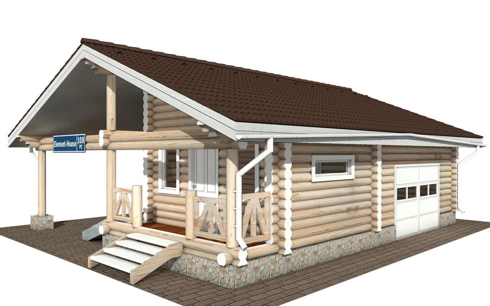 РС-108 - деревянный дома из бревна (из сруба)