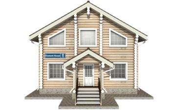 Фото #7: Красивый деревянный дом РС-8 из бревна