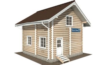 Фото #1: Красивый деревянный дом РС-109 из бревна