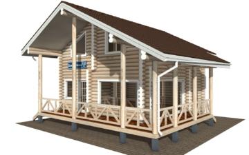 Фото #1: Красивый деревянный дом РС-110 из бревна