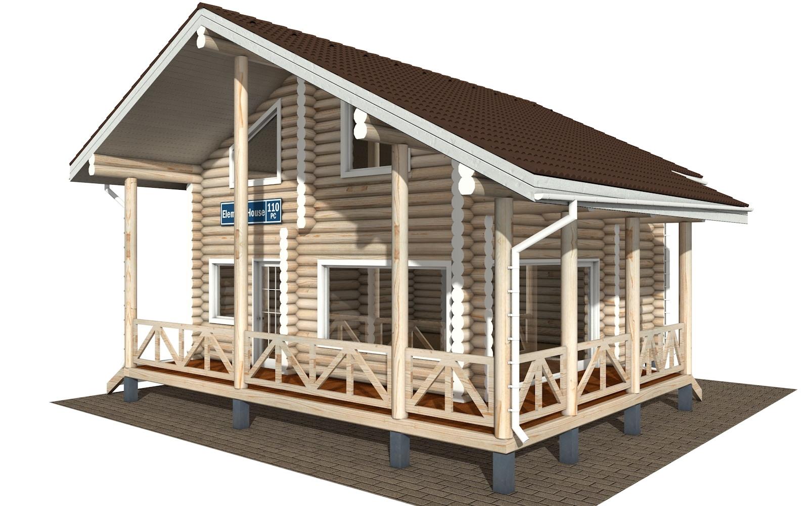 РС-110 - деревянный дома из бревна (из сруба)