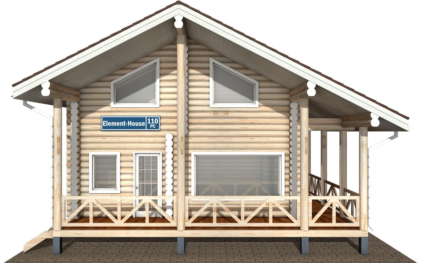 Фото #6: Красивый деревянный дом РС-110 из бревна