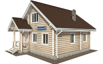 Фото #1: Красивый деревянный дом РС-111 из бревна