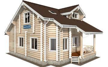 Фото #1: Красивый деревянный дом РС-113 из бревна