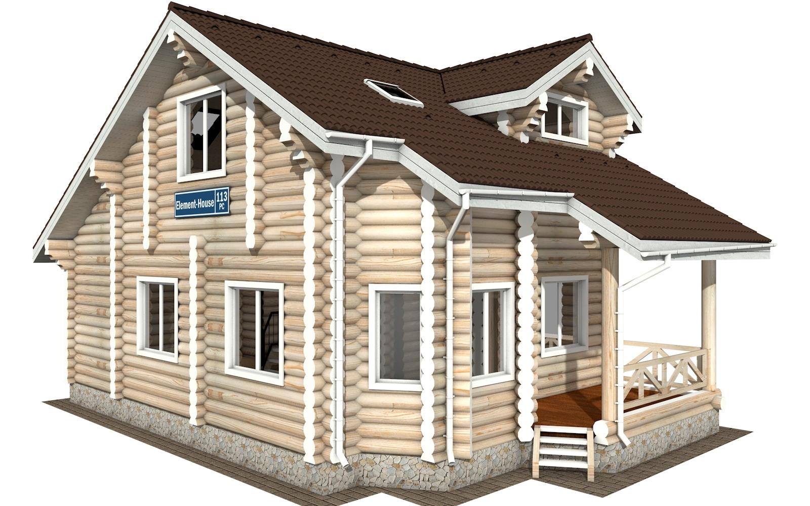 РС-113 - деревянный дома из бревна (из сруба)