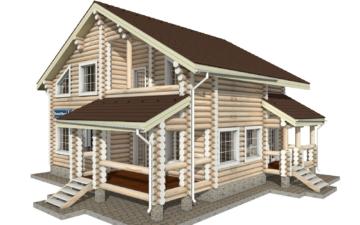 Фото #3: Красивый деревянный дом РС-9 из бревна