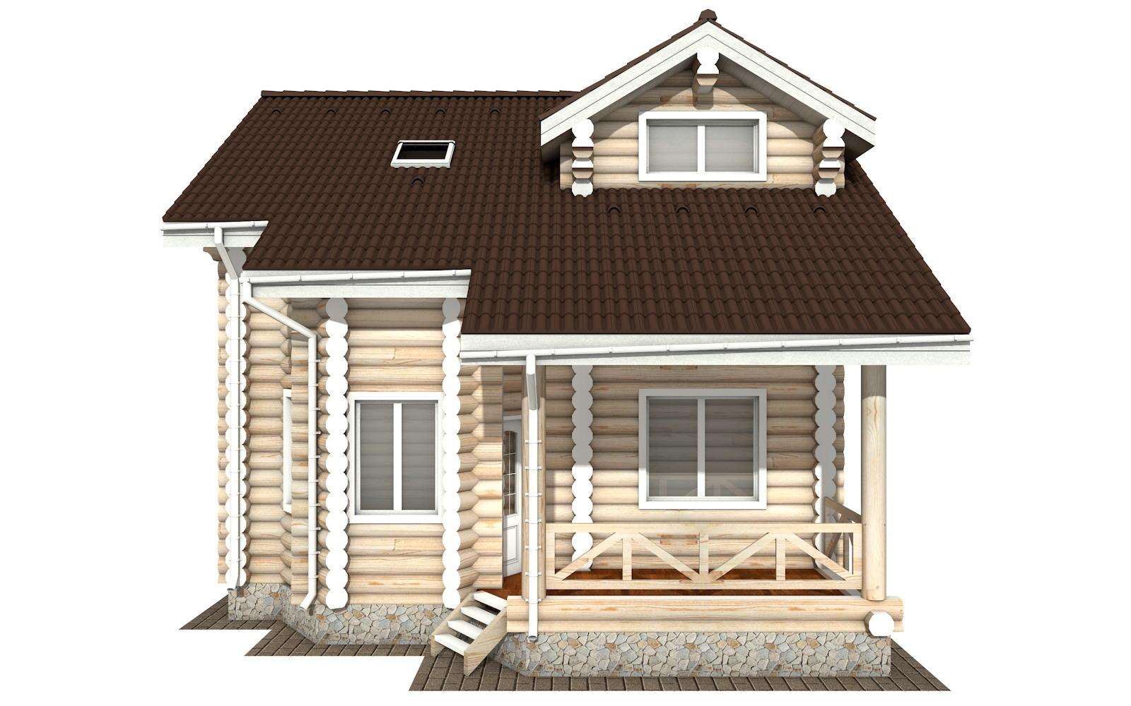 Фото #6: Красивый деревянный дом РС-113 из бревна
