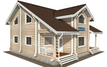 Фото #1: Красивый деревянный дом РС-114 из бревна